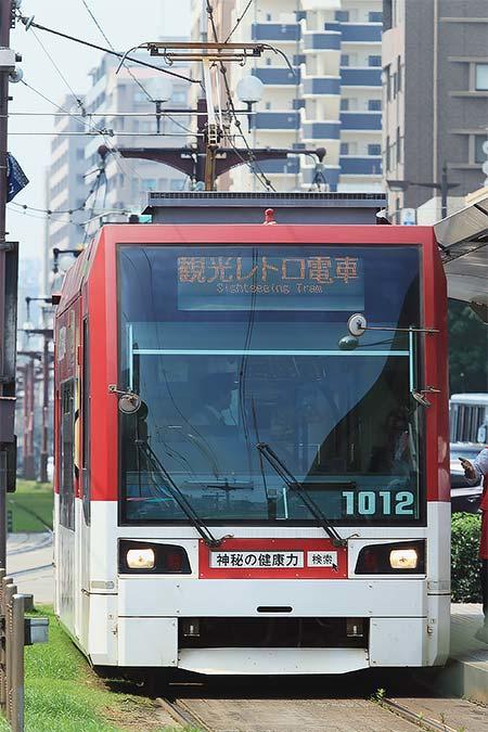 鹿児島市交通局,1000形が観光電車を代走