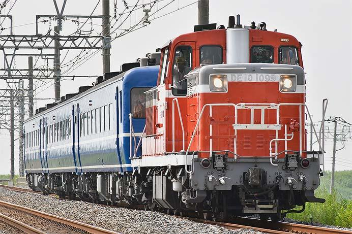 東武日光線でDE10+14系が試運転を実施
