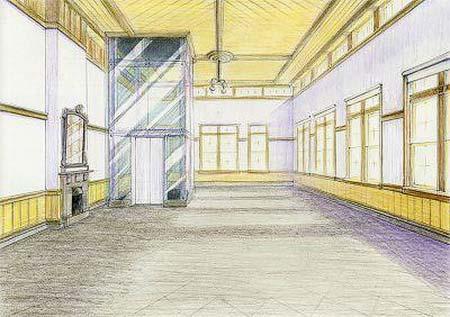 1階旧三等待合室の復原イメージ