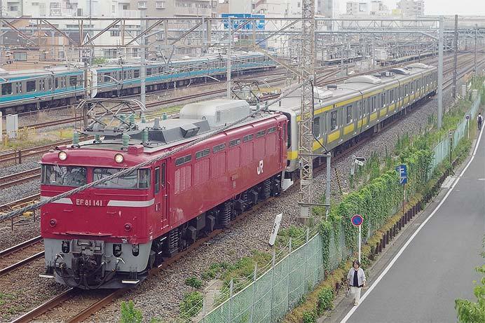E231系4両が土崎から東大宮へ