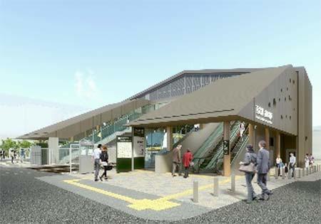 南武線稲田堤駅で自由通路新設と橋上駅舎整備へ