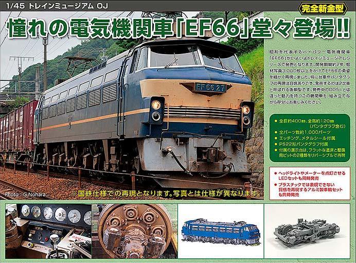 アオシマ,「電気機関車 EF66 後期型」を11月に発売