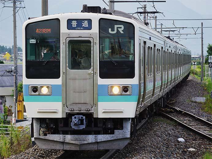 大糸線で211系2000番台が運転される