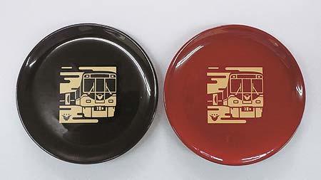 京阪電車×漆器の井助 プレミアムカー漆まめさら