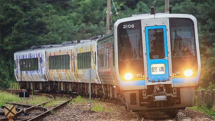 JR四国2000系5両が松山運転所へ戻る