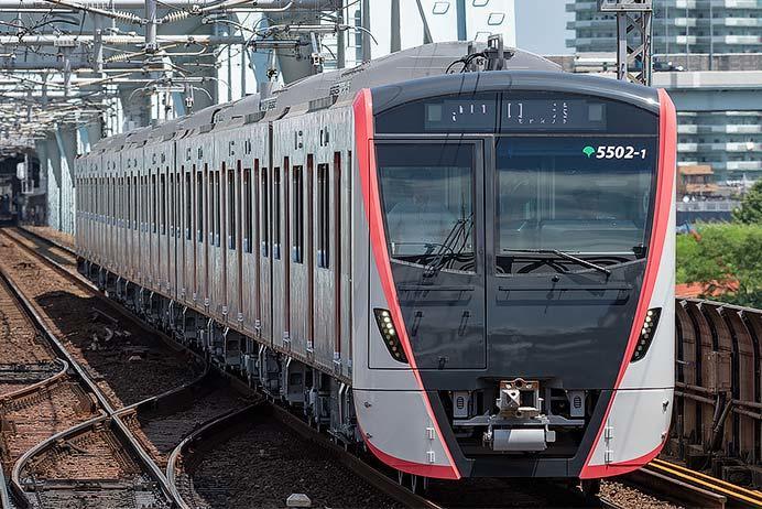 東京都交通局5500形第2編成が西馬込に戻る