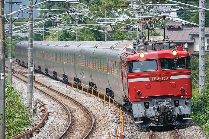 E26系が秋田から尾久まで回送される