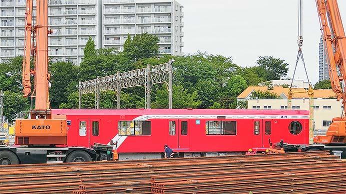 東京メトロ2000系が中野工場に搬入される
