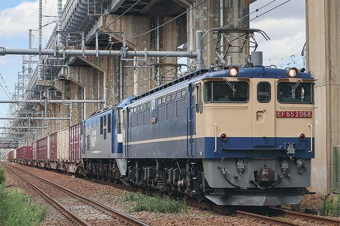 EF210-8,72列車の次位無動力で吹田へ