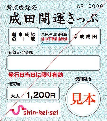 「新京成線発 成田開運きっぷ」発売