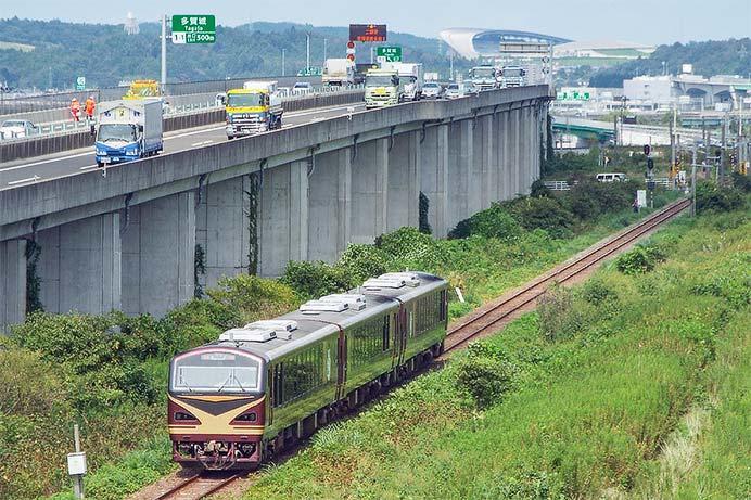 「みのり」が仙台臨海鉄道に入線