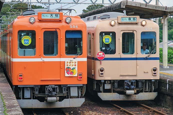 養老鉄道で「なし狩号」・「フルーツライン号」の系統板
