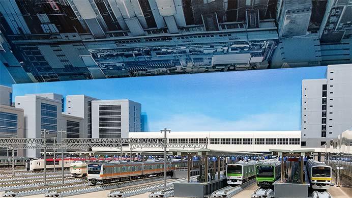 新宿駅を再現したレイアウト