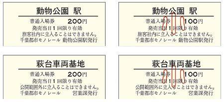 「ちばモノレール祭り2018」開催記念入場券