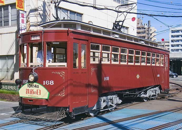 長崎電軌で明治電車の記念運転
