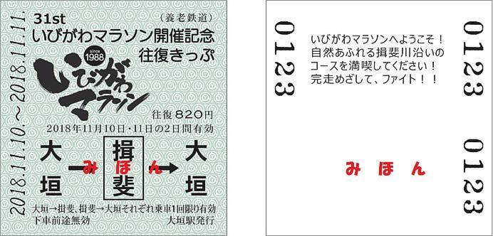 養老鉄道「いびがわマラソン開催記念往復きっぷ」発売