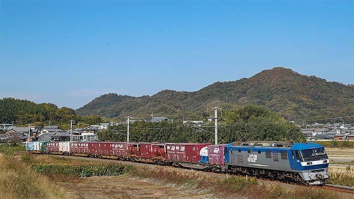 コキ110形式全車が四国貨物列車に充当される