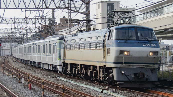 EF66 109が東京メトロ13000系の甲種輸送をけん引