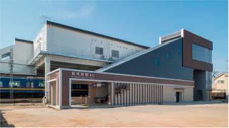 新河岸駅東口駅舎(外観)