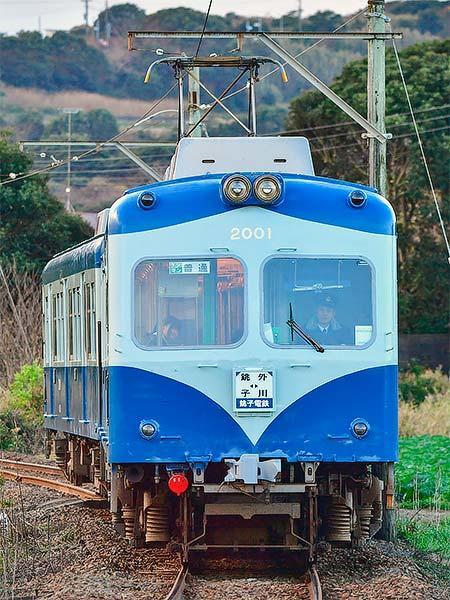 銚子電鉄デハ2001が塗装を変更して運用復帰