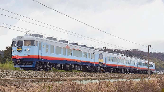あいの風とやま鉄道の観光列車「一万三千尺物語」が出場
