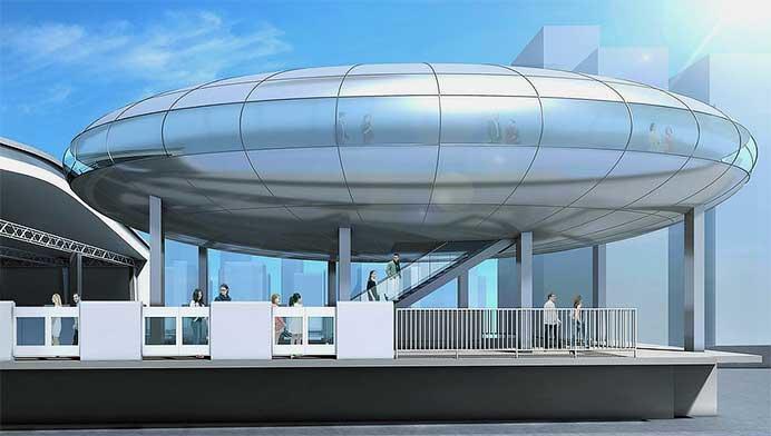 「近未来の大阪」をコンセプトとした新大阪駅のイメージ