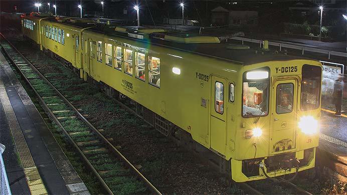 唐津線でイルミネーション列車運転