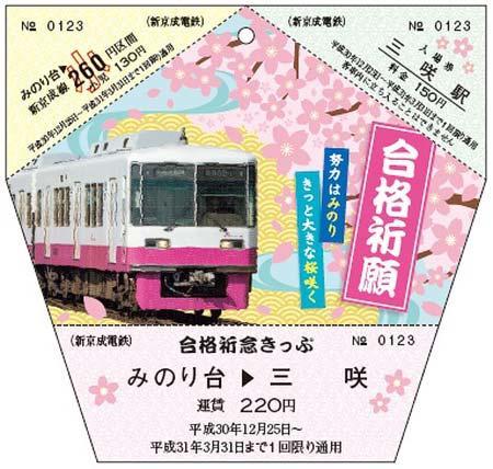 新京成「合格祈念きっぷ」発売