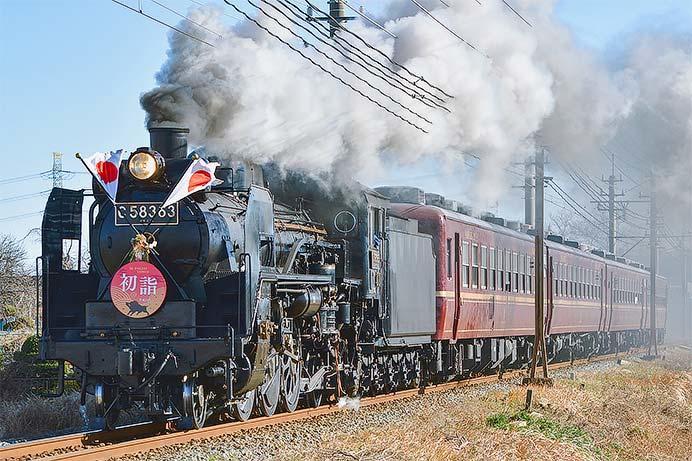 "秩父鉄道で""SL初詣号""運転"