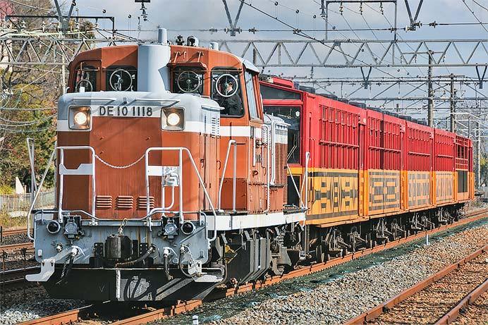 嵯峨野観光鉄道のトロッコ客車が吹田総合車両所へ