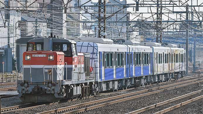 静岡鉄道A3000形第5・6編成が甲種輸送される