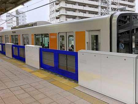 朝霞駅ホーム 4番ホーム ホームドア(イメージ)