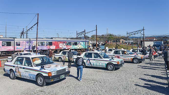 伊豆箱根鉄道でラッピング車両の撮影会開催