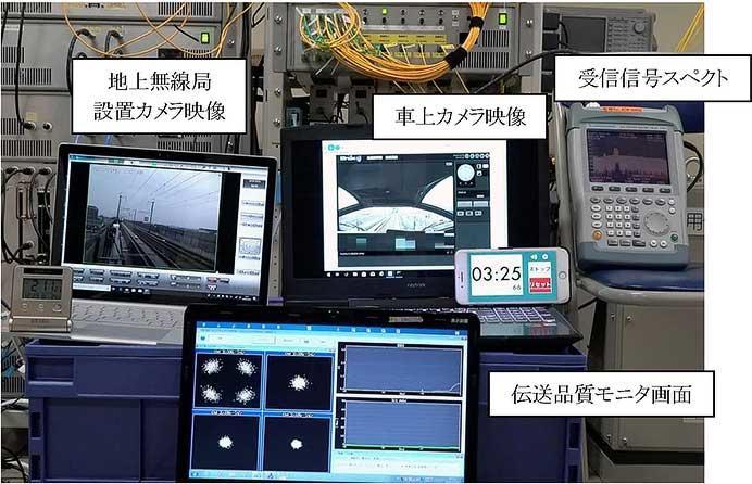 運転席内映像を中央制御装置で受信している様子