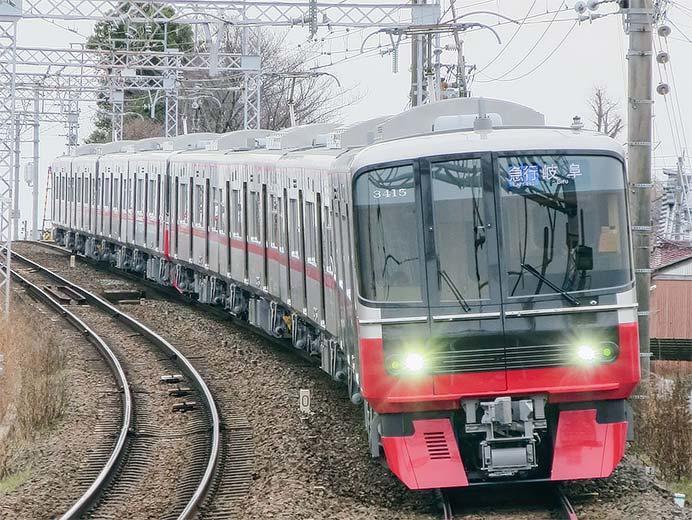 名鉄3300系3314編成と3315編成が営業運転を開始