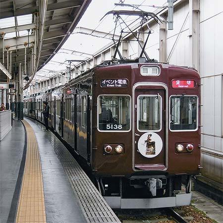 能勢電鉄5100系車内でVR上映会