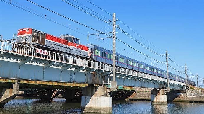 京成3000形最終増備車が甲種輸送される