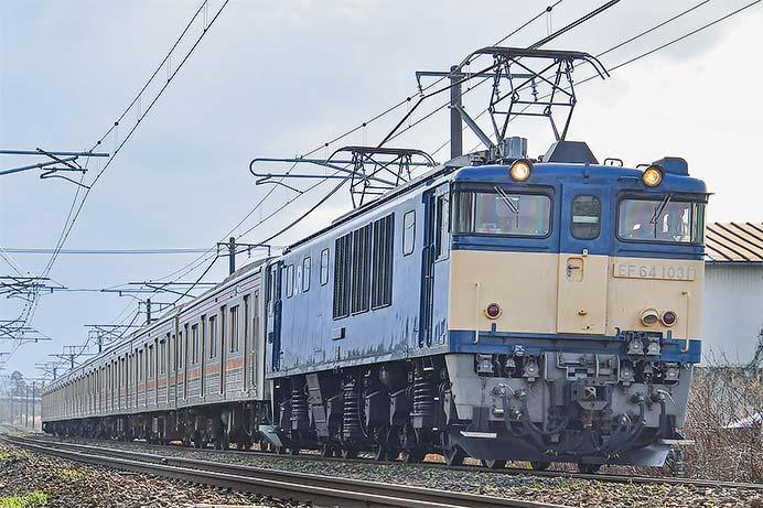 205系M10編成が新津まで配給される