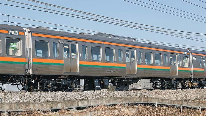 サハ211-3065に線路設備モニタリング装置