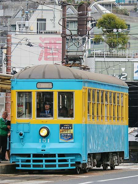 長崎電気軌道で151号車のさよなら運行