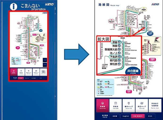駅総合案内デジタルサイネージ