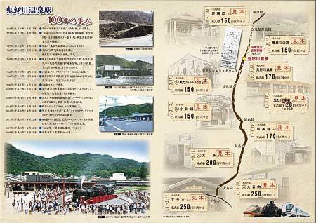 「鬼怒川温泉駅開業100周年記念乗車券」台紙(イメージ)