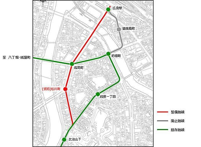 広島電鉄,「駅前大橋ルート」と「循環ルート」を整備へ