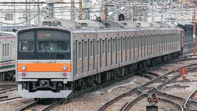 205系M32編成が新津へ配給輸送
