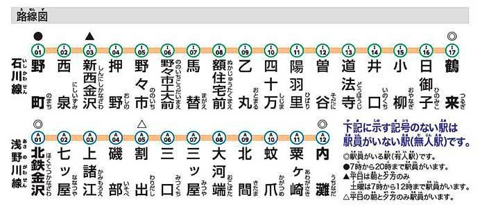 北陸鉄道,4月1日から駅ナンバリングを導入