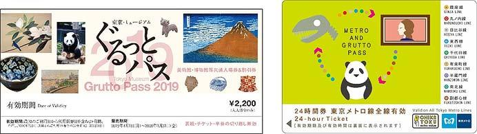 東京メトロ,2019年度版「メトロ&ぐるっとパス」発売