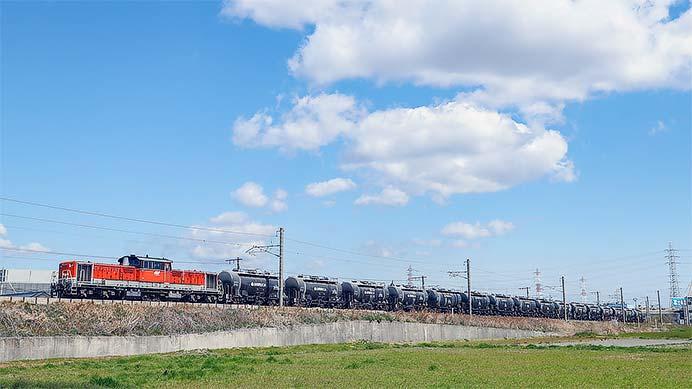 DD51 825がセメント輸送列車を代走けん引