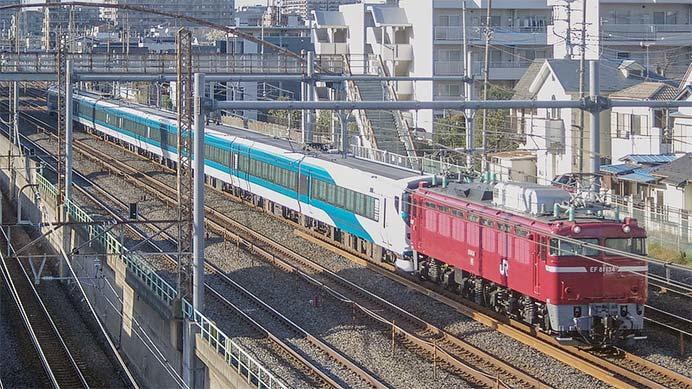 E257系2000番台NA-03編成が出場