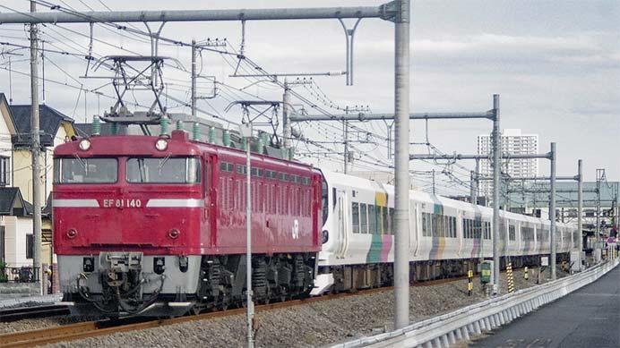 E257系M110編成が秋田総合車両センターへ