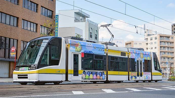 鹿児島市電でKTS鹿児島テレビ「ぽよ電車でGO!」運転